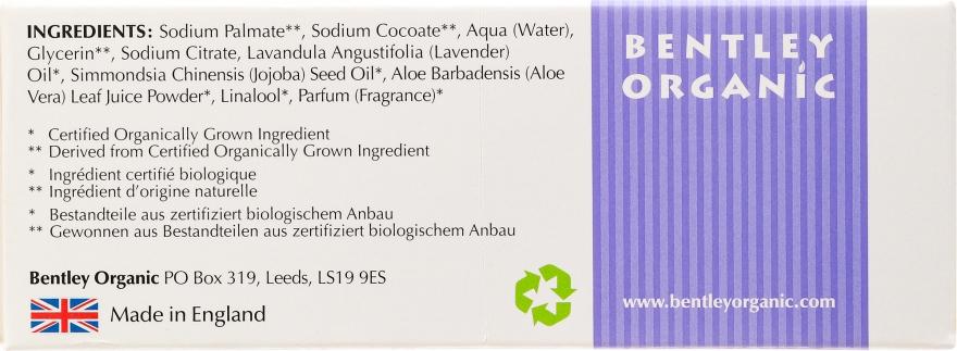 Nawilżające mydło kosmetyczne Lawenda, aloes i olej jojoba - Bentley Organic Body Care Calming & Moisturising Soap Bar — фото N3