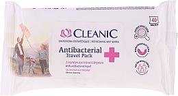 Kup Chusteczki odświeżające z płynem antybakteryjnym - Cleanic Antibacterial Travel Pack Refreshing Wet Wipes