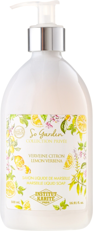 Mydło w płynie Cytryna i werbena - Institut Karité So Garden Collection Privée Lemon Verbena Marseille Liquid Soap