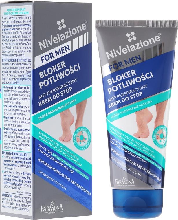 Antyperspiracyjny krem do stóp dla mężczyzn Bloker potliwości - Farmona Nivelazione For Men — фото N1