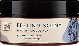 Peeling solny do ciała Jagody acai - Nature Queen Linia antyoksydacyjna — фото N1