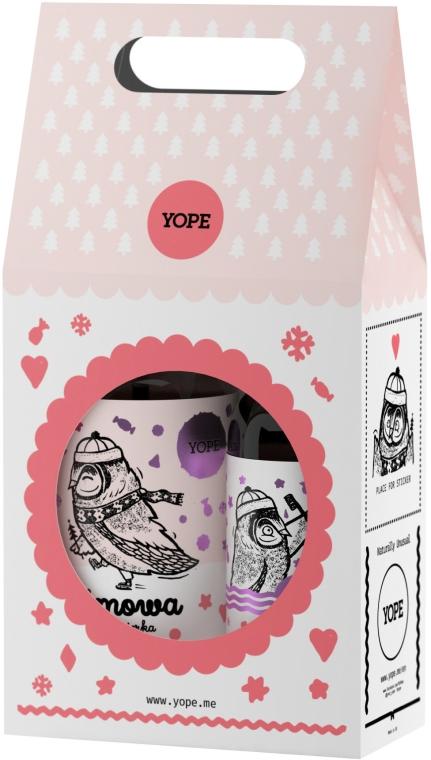 Zestaw do oczyszczania ciała - Yope Zimowa bombonierka (sh/gel 400 ml + l/soap 500 ml)