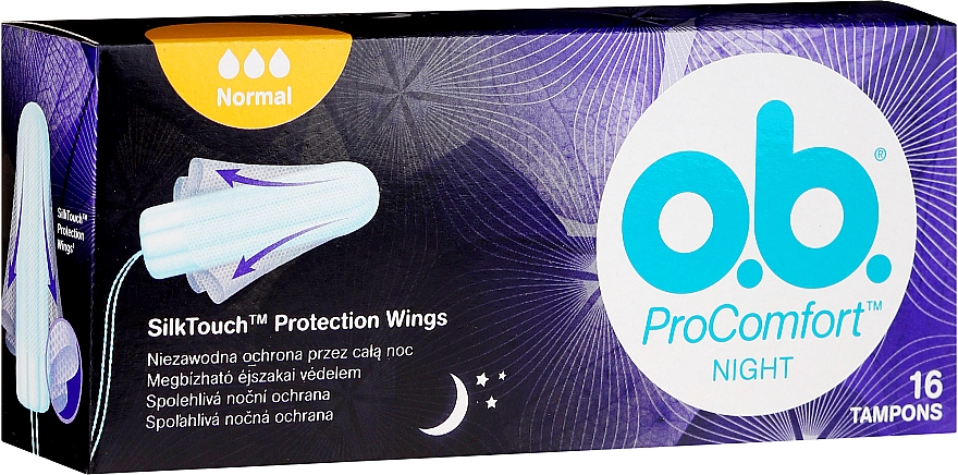 Tampony na noc, 16 szt. - O.b. ProComfort Night Normal Tampons — фото N1