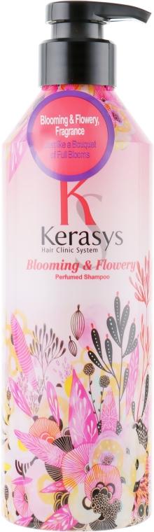 Perfumowany szampon do włosów przetłuszczających się - KeraSys Blooming & Flowery Perfumed Shampoo