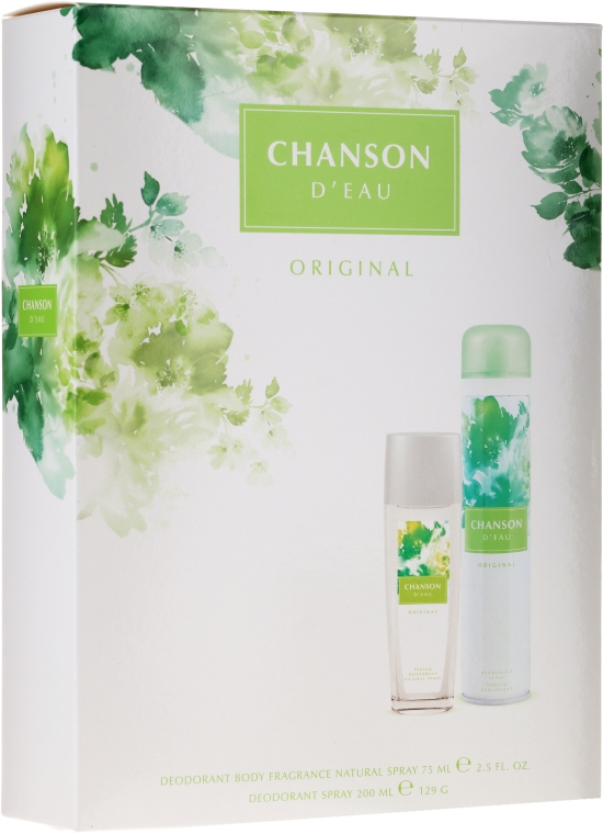 Coty Chanson Dʻeau Original - Zestaw (deo/spray/75ml + deo/200ml)