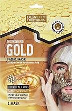Kup Odżywcza złota maska miodowa w płachcie z kwasem hialuronowym - Beauty Formulas Nourishing Honeycomb Gold Facial Mask