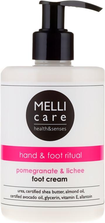 Krem do stóp Granat i liczi - Melli Care Pomegranate & Lichee Foot Cream — фото N1
