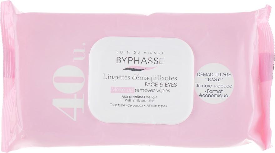 Chusteczki oczyszczające do twarzy i oczu, 40 szt. - Byphasse Make-up Remover Wipes — фото N1