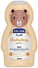 Kup Biszkoptowy żel do mycia ciała, włosów i twarzy 3 w 1 - On Line Le Petit Biscuit 3 In 1 Hair Body Face Wash