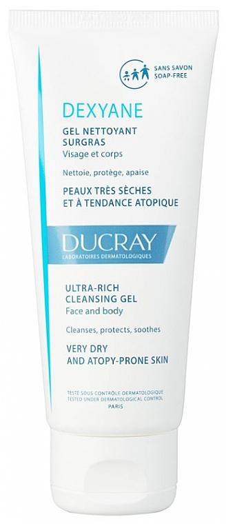 Żel myjący do twarzy i ciała do skóry suchej i atopowej - Ducray Dexyane Ultra Rich Cleansing Gel — фото N1