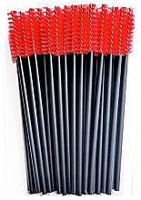 Kup Nylonowa szczoteczka do rzęs, czarno-czerwona - Novalia Group