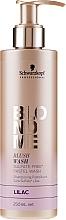 Kup Szampon bez sulfatów do włosów blond Bez - Schwarzkopf Professional Blond Me Blush Wash Lilac