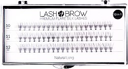 Kup Jedwabne kępki rzęs - Lash Brow Premium Flare Silk Lashes Natural Long