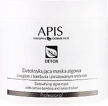 Kup Detoksykująca maska algowa z węglem z bambusa i jonizowanym srebrem - APIS Professional Detox