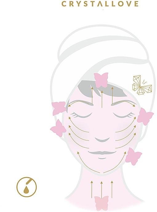 Płytka do masażu twarzy Gua Sha z różowego kwarcu - Crystallove 3D Rose Quartz Guasha — фото N3