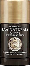 Kup Dezodorant w sztyfcie dla mężczyzn - Recipe For Men RAW Naturals No. 1 Deodorant Stick
