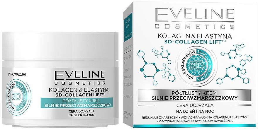 Półtłusty krem silnie przeciwzmarszczkowy Kolagen i elastyna - Eveline Cosmetics