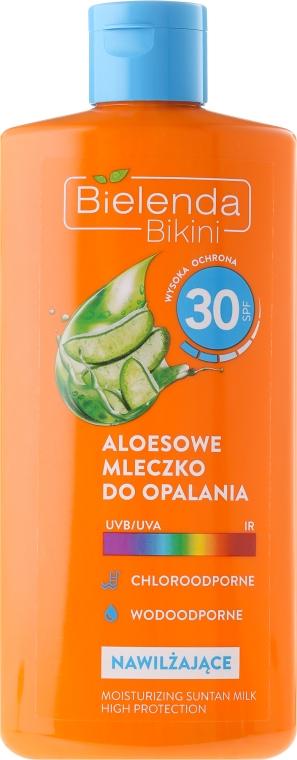 Aloesowe mleczko do opalania SPF 30 - Bielenda Bikini — фото N1