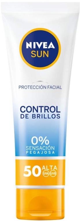 Matujący krem do twarzy z filtrem SPF 50 - Nivea Sun UV Face Shine Control Cream — фото N2