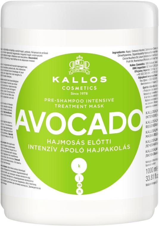 Maska do włosów Awokado - Kallos Cosmetics KJMN Avocado Hair Mask