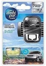 Kup Zestaw do samochodu, dyfuzor + wkłady zapachowe, Niebo - Ambi Pur (freshener 1 szt + refill 7 ml)