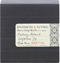 Kup Bath House Spanish Fig and Nutmeg - Mydło do golenia (wymienny wkład)