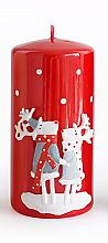Kup Świeca dekoracyjna, czerwona, 7 x 14 cm - Artman Reindeers