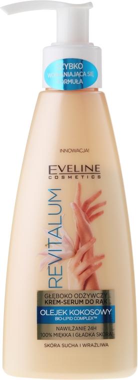 Głęboko odżywczy krem do rąk z olejem kokosowym - Eveline Cosmetics Revitalum
