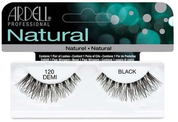 Sztuczne rzęsy na pasku - Ardell Natural Lashes Demi Black 120