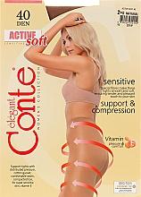 "Kup Rajstopy ""Active Soft"" 40 DEN, natural - Conte"