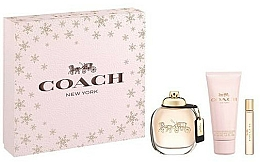 Kup Coach New York Eau De Parfum - Zestaw (edp 90 ml + b/lot 100 ml + edp 7,5 ml)