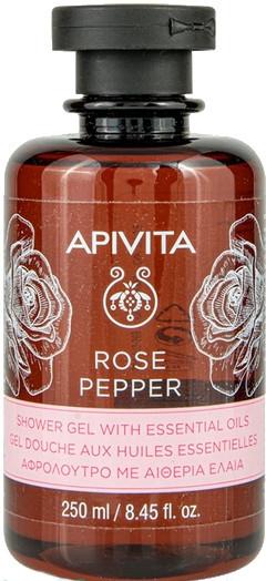 Żel pod prysznic z olejkami eterycznymi Róża i pieprz - Apivita Shower Gel Rose & Black Pepper — фото N1