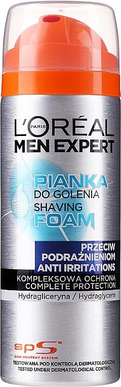 Pianka do golenia przeciw podrażnieniom - L'Oreal Paris Men Expert Rasier Schaum Anti-Hautirritation