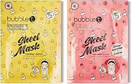 Kup Podwójna maseczka w płachcie do twarzy - Bubble T Face Sheet Mask Duo Lemongrass & Green Tea and Hibiscus & Acai Berry Tea