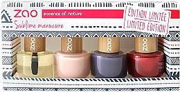 Kup PRZECENA! Zestaw - Zao Limited Edition Christmas Nail Polish Box (nail/polish/3x8ml + cuticle/oil/8ml+ nail/file) *