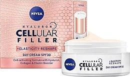 Kup Modelujący krem do twarzy na dzień - Nivea Hyaluron Cellular Filler +Elasticity-Reshape Day Cream SPF30