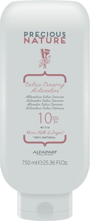 Aktywator do włosów 3% - Alfaparf Precious Nature Extra Creamy Activator 10 Volume — фото N1