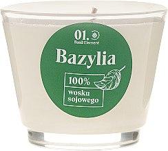 Świeca do pielęgnacji ciała, masażu i aromaterapii Bazylia - _Element Basil — фото N2