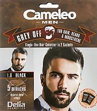 Kup Jednorazowa farba do natychmiastowej koloryzacji siwych włosów, brody i wąsów - Delia Cameleo Men