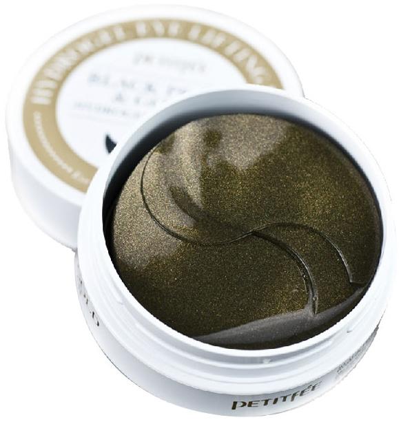 Hydrożelowe płatki pod oczy z proszkiem z czarnych pereł i złotem - Petitfee & Koelf Black Pearl&Gold Hydrogel Eye Patch