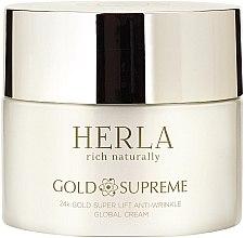 Kup Liftingujący krem przeciwzmarszczkowy do twarzy ze złotem - Herla Gold Supreme 24K Gold Super Lift Anti-Wrinkle Global Cream