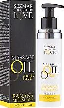 Olejek do masażu Mleczny koktajl bananowy - Sezmar Collection Love Massage Oil — фото N1