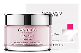 Kup Detoksykująca maska dotleniająca do twarzy Róża i kwasy AHA - Symbiosis London In Depth Detoxifying & Oxygenating Mask