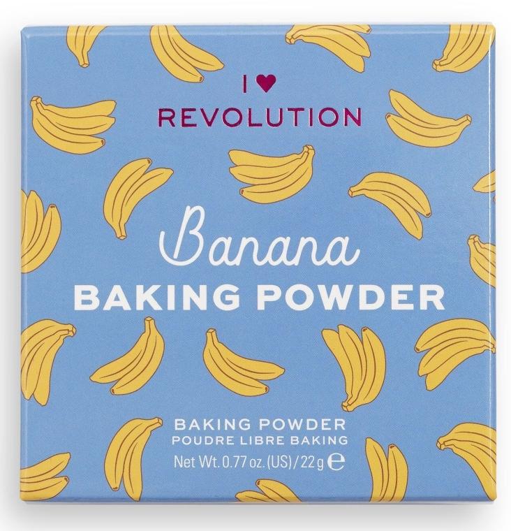 Sypki puder bananowy do twarzy - I Heart Revolution Loose Baking Powder Banana — фото N4