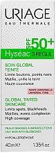 Kup Intensywna ochrona skóry z niedoskonałościami SPF 50+ - Uriage Hyséac 3-Regul Global Tinted Skincare SPF50