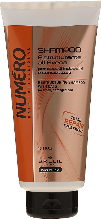 Regenerujący szampon do włosów - Brelil Numero Brelil Numero Restructuring Shampoo with Oats — фото N1