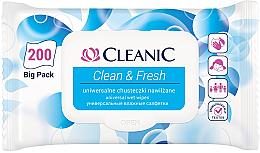 Kup PRZECENA! Uniwersalne chusteczki nawilżane - Cleanic Clean & Fresh *