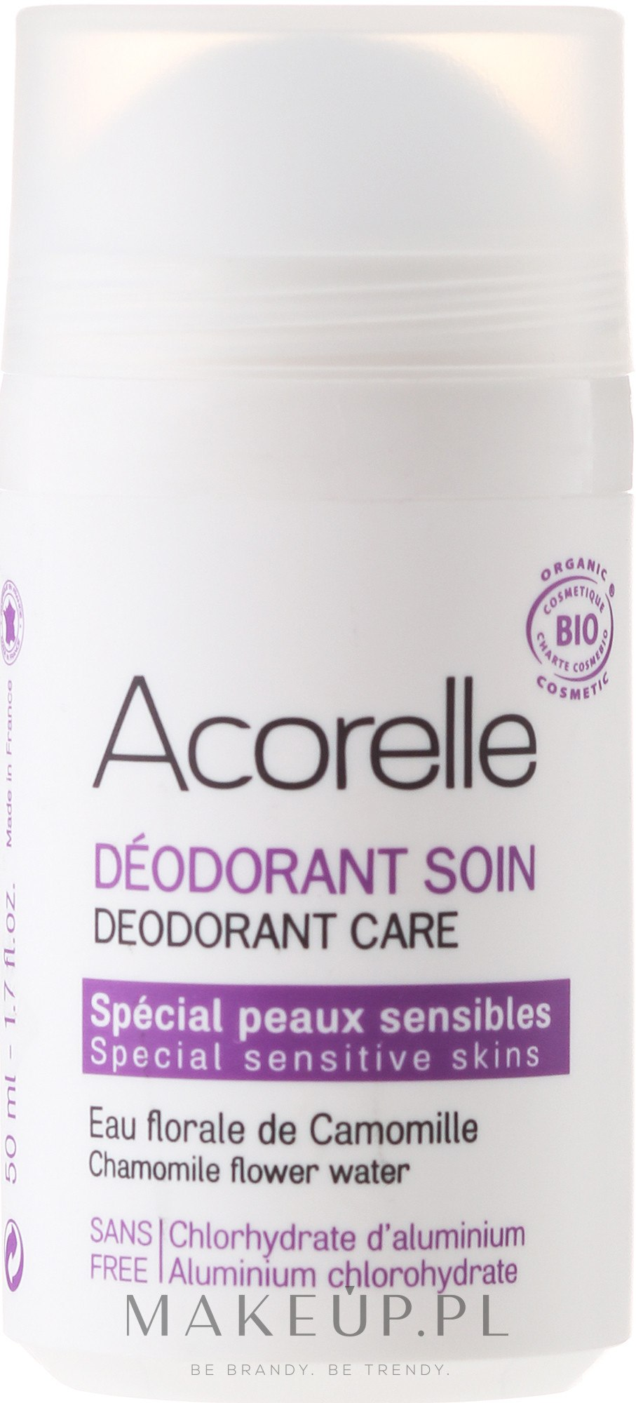 Mineralny dezodorant orzeźwiający Rumianek - Acorelle Deodorant Care — фото 50 ml