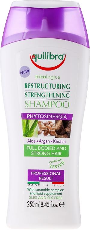 Regenerujący szampon do włosów - Equilibra Tricologica Aloe Vera Restructuring & Strengthening Shampoo