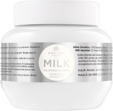 Kremowa maska do włosów z proteinami mleka - Kallos Cosmetics Hair Mask With Milk Protein — фото N1